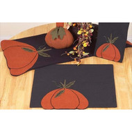 "Harvest Blessings 14"" x 36"" Black - Orange"