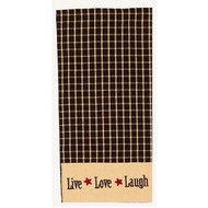 "Live-Love-Laugh 18"" x 28"" Black - Nutmeg"