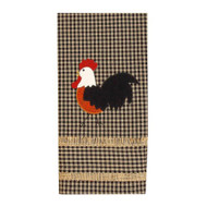 "Rise and Shine Rooster 18"" x 28"" Black - Oat"