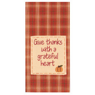 "Give Thanks with a Grateful Heart 18"" x 28"" Orange"