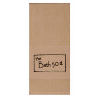 "Hot Bath 50 cents 18"" x 28"" Black - Nutmeg"