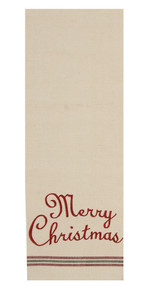 "Merry Christmas 18"" x 28"" Cream - Barn Red"