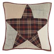 Abilene Star Quilted Filled Pillow 16x16