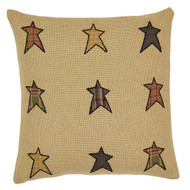 Stratton Applique Star Filled Pillow 16x16