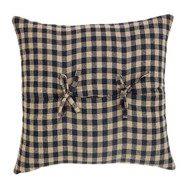 Black Check Filled Pillow Fabric 16x16