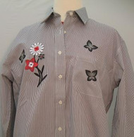 Red & Black Flower L/S Shirt