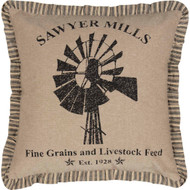 Sawyer Mill Windmill Pillow 18x18
