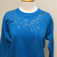 Peacock Teardrop Sweatshirt