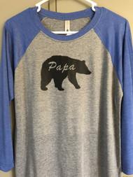 Papa Bear Raglan Sleeve Top
