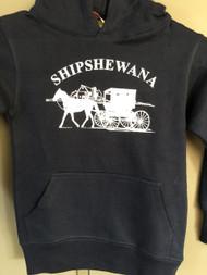 Navy w/White Shipshe Logo Hoodie (Youth)