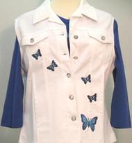 Blue Butterfly Vest