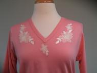 Vintage Ecru 3/4 Sleeve V-Neck