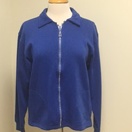 Rhinestone Zip Cardigan- Royal