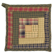 Tea Cabin Pot Holder Patchwork 8x8
