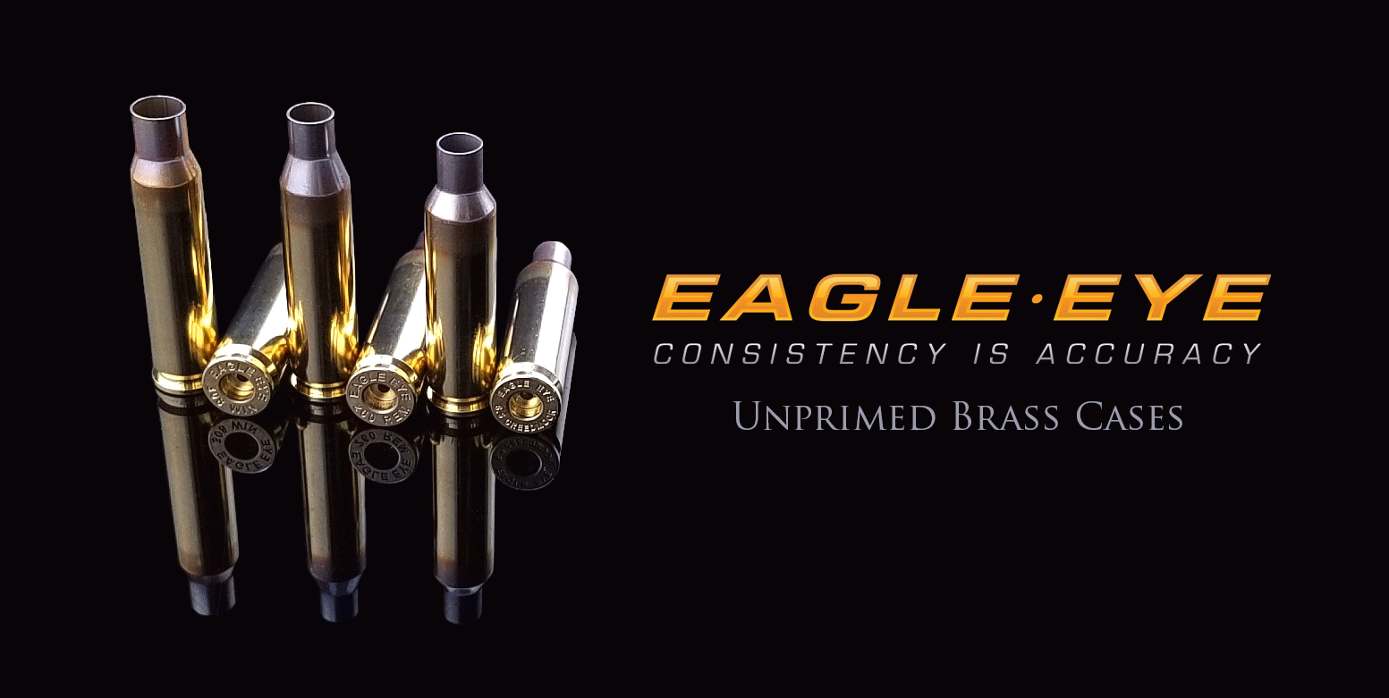 Premium Unprimed Brass Cases by Eagle Eye Ammo