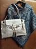 Ladies' Silver  Vegan Leather Handbag