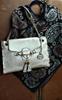 Ladies' Pearl/Gold Vegan Leather Handbag
