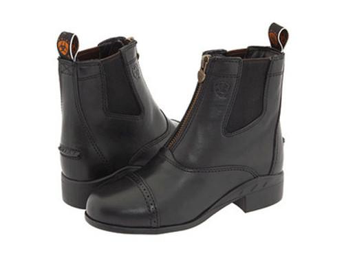 Children's Ariat Devon III Black Zip Front Boots