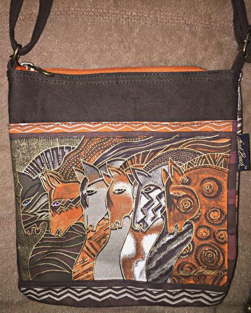 Laurel Birch Orange Zip Cross Body Bag