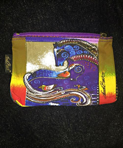 Laurel Birch Purple Zip Cosmetic Bag