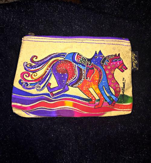 Laurel Birch Yellow/Purple Zip Cosmetic Bag