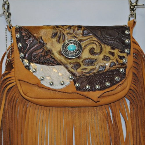 """Right Hand """"Lucille"""" Concealed Carry Hip Bag with Fringe – 10.4-07"""