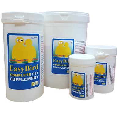 Complete pet supplement for birds.