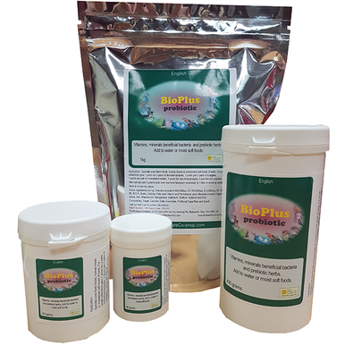 Powdered probiotic for birds.