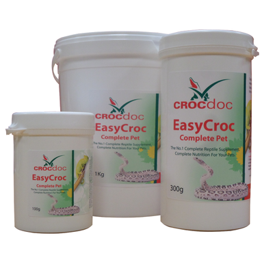 CrocDoc EasyCroc Complete Pet is the most comprehensive vitamin & mineral supplement for pet reptiles in the world. EasyCroc contains all the good things that your pet needs for tip top health and well being.