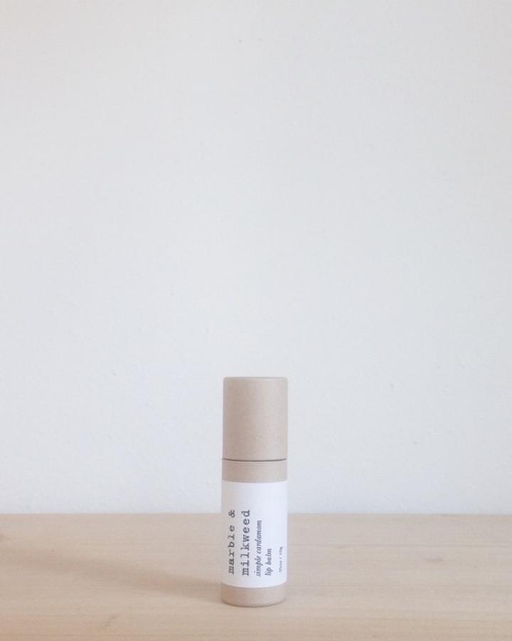 simple cardamom lip balm