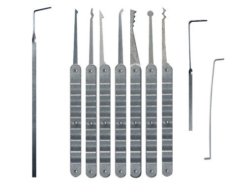 10 Piece Laminated Ripple Handle Lock Pick Set (LRH-10)