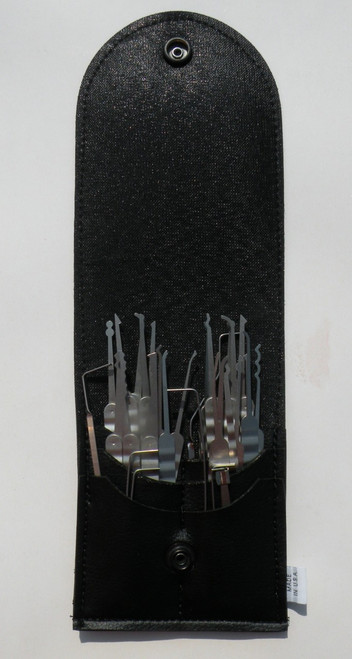 30 Piece Laminated Ripple Core Handle Lock Pick Set