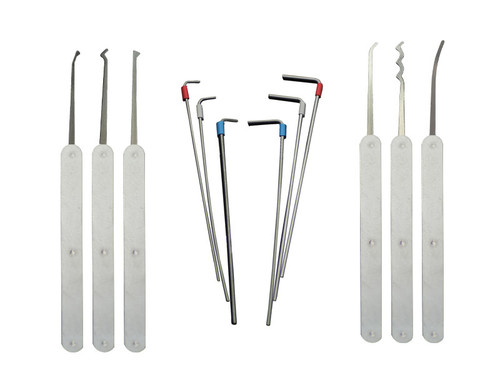 12 Piece Euro Profile Lock Pick Set