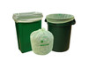 Compostable Trash Bag, 13 Gallon, 23.5 x 29, .8 Mil, Green, 250/case