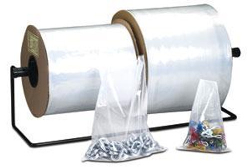 Poly Tubing, 4 Mil, 2in x 750ft, Clear, 1 Roll