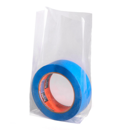Gusseted Poly Bags on a Roll, 1 Mil, 6 x 3 x 12, Clear, 1000/case