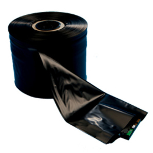 Conductive Poly Tubing, 4 Mil, 6in x 750ft, Black, 1 roll