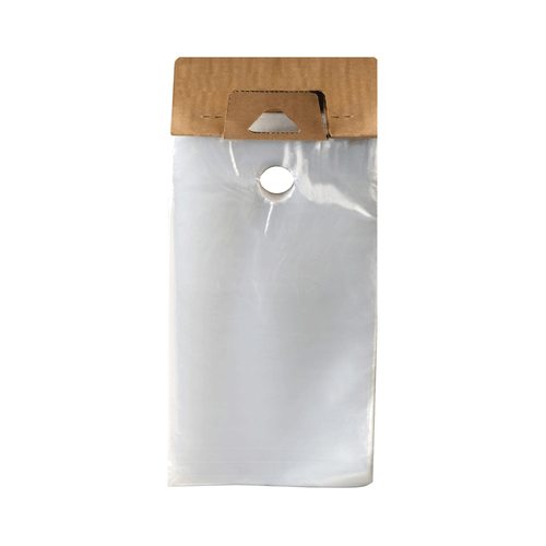 Hanging Literature Bags, 1.5 Mil, 6 x 12, Clear, 1000/case