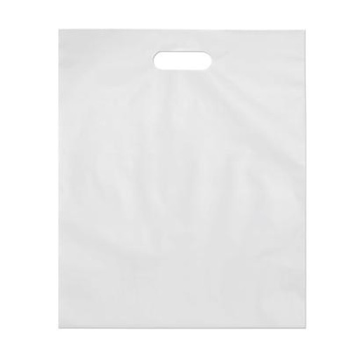 Retail Poly Bags with Handles, 2 Mil, 15 x 18, White, 1000/case