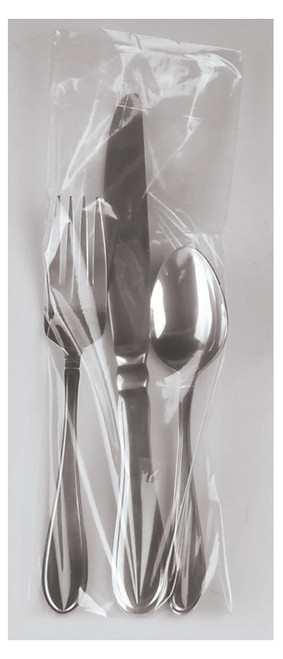 Flip Top Silverware Bags, .65 Mil, 3 3/4 x 10, Clear, 1000/case
