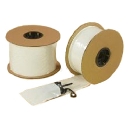 Pre-Opened Poly Bags on a Roll, Automatic Fill Style, 2 Mil, 3 x 5, White with Clear, 2000/roll