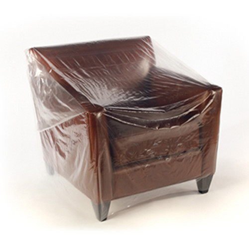 Furniture Covers, Medium Chair, 1 Mil, 76 x 45, Clear, 200/roll