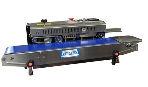 Continuous Band Sealer, Horizontal, Embossing, Right Feed