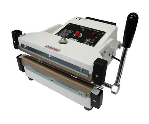 10-Inch Hand Press Double Impulse Sealer with 10mm Seal