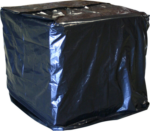UVI Protective Pallet Top Covers, 51 x 49 x 85, 2 Mil, Black, 50/Case