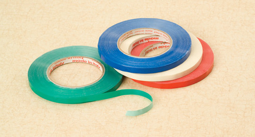 Bag Sealing Tape, 3/8 Inch, Red, 540ft/Roll, 12 Rolls