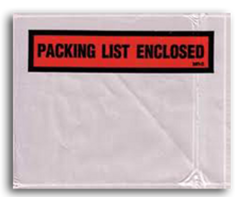 Packing List Envelopes, Packing List Enclosed, Medium Block, 5 1/2 X 10, 1000/case