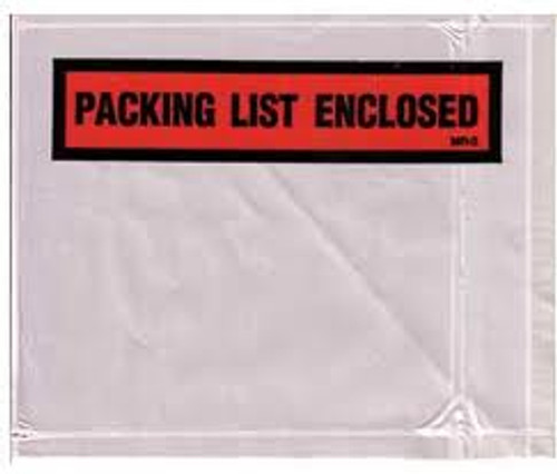 Packing List Envelopes, Packing List Enclosed, Medium Print, 7 X 5 1/2, 1000/case