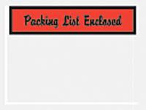 Packing List Envelopes, Packing List Enclosed, Small Script Print, 4 1/2 X 6, 1000/case
