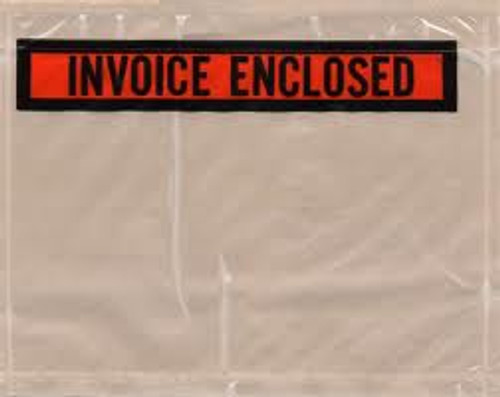 Packing List Envelopes, Invoice Enclosed, 4 1/2 X 5 1/2, 1000/case